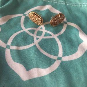 Kendra Scott Ella Rose gold Drusy Stud Earring